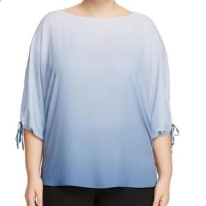 Vince Camuto 1x flowy ombre blouse